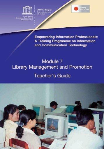Library Management and Promotion - UNESCO Bangkok
