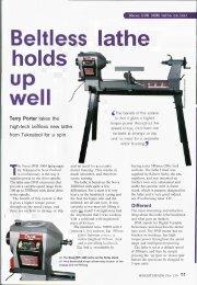 Review in UK magazine - Teknatool