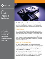 341 Portable Transmission Densitometer - X-Rite