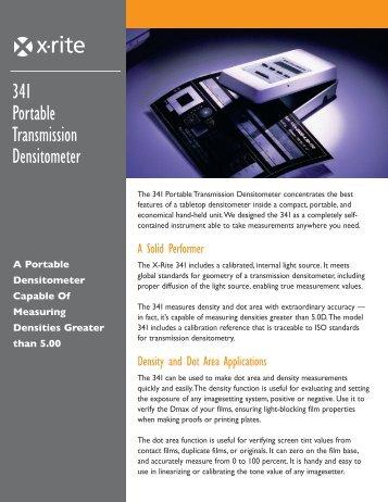 341 Portable Transmission Densitometer - X-Rite