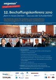 12. Beschaffungskonferenz 2010 - ÖPP Deutschland AG