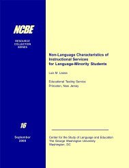 Non-Language Characteristics of Instructional Services for ...