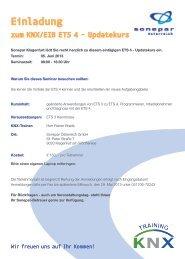 Einladung zum KNX/EIB ETS 4 - Updatekurs - SONEPAR ...