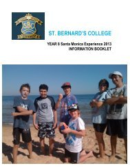 YEAR 8 CAMP Booklet 2013 - St Bernard's College