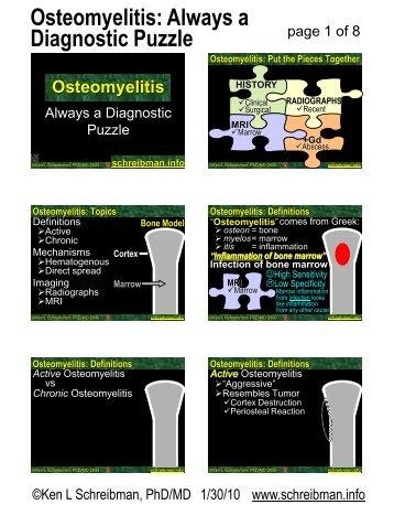 Osteomyelitis: Always a Diagnostic Puzzle
