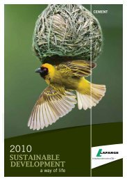 Sustainable Development Brochure - Lafarge in South Africa