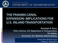 THE PANAMA CANAL EXPANSION - Transportation Research Forum