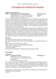 Lehrangebot des Instituts für Soziologie - Westfälische Wilhelms ...