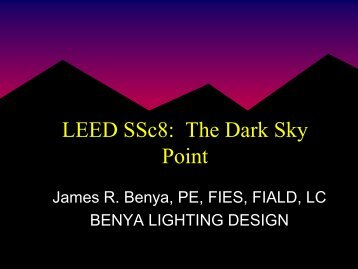 Achieving the LEED Light Pollution Reduction Credit