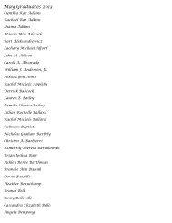 May Graduates 2013