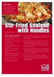 Stir-Fried Seafood with Noodles - Dorsetforyou.com