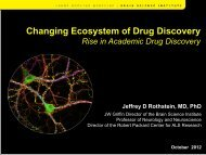 Changing Ecosystem of Drug Discovery - World Health Summit