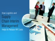 Supply Chain Interim Management – Effective Tool to Reduce HR Costs