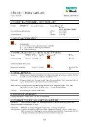 Säkerhetsdatablad (MSDS) (52.2 KB - pdf) - Jula