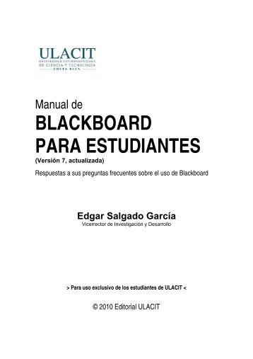 Manual plataforma blackboard.