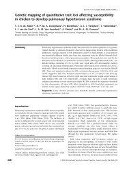 Genetic mapping of quantitative trait loci affecting susceptibility in ...