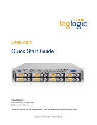 LogLogic Quick Start Guide - TIBCO Product Documentation