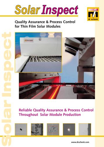 Quality Assurance & Process Control for Thin Film Solar Modules ...