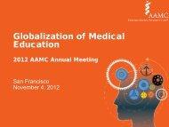 Globalization of Medical Education - Member Profile - Association of ...