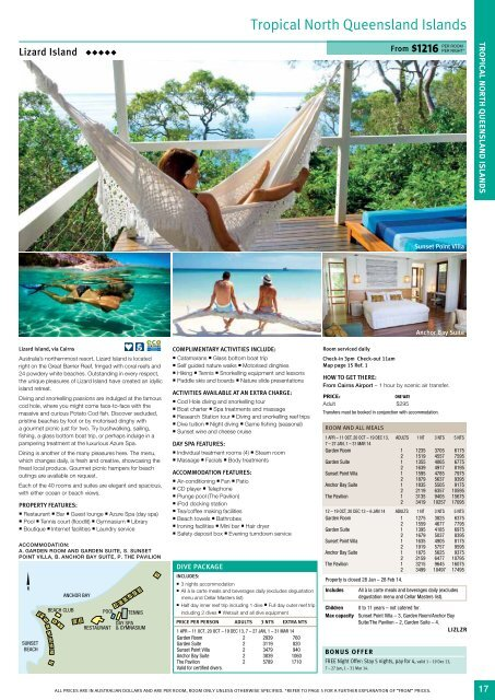 Tropical North Queensland Islands - Sunlover Holidays