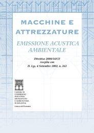 Emissione acustica ambientale di macchine e attrezzature