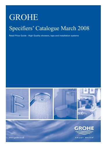 Specifiers' Catalogue March 2008 - Grohe