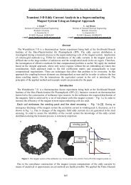 Transient 3-D Eddy Current Analysis in a Superconducting ... - Piers