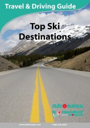 Auto Europe Driving Guide for Top Ski Destinations
