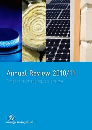 Annual Review 2010/11 - Energy Saving Trust
