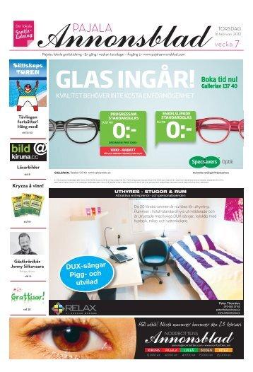 Kiruna Annonsblad vecka 7, torsdag 16 februari 2012 sidan 1