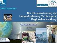 Die Klimaerwärmung als Herausforderung für die ... - SNOWPROs.NL