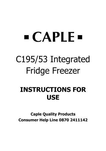 C195/53 Integrated Fridge Freezer - Caple