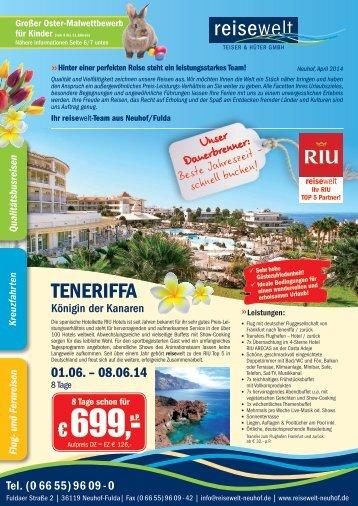 reisewelt Zeitungsbeilage 04 2014