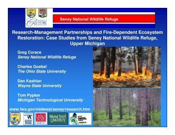 Research-Management Partnerships and Fire-Dependent ...
