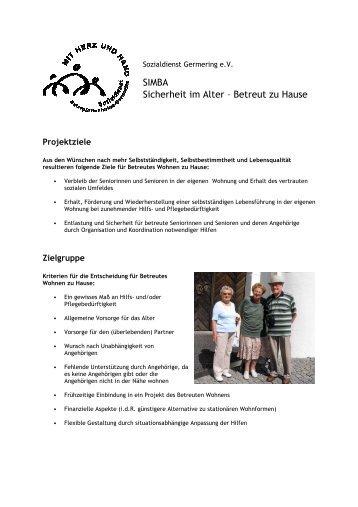 SIMBA Sicherheit im Alter – Betreut zu Hause - Sozialdienst ...