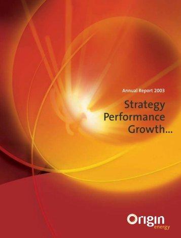 Annual report - Origin Energy