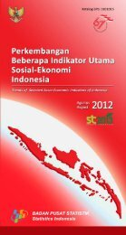 Trends of Selected Socio-Economic Indicators of Indonesia, August ...