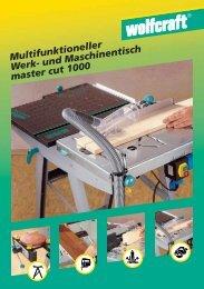 und Maschinentisch master cut 1000 - Produktinfo.conrad.com
