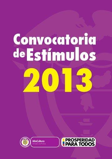 Convocatoria de Estímulos 2013