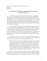 Foer Reviews Wu Master Switch.pdf - American Antitrust Institute