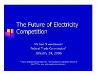 The Future of Electricity Competition - American Antitrust Institute