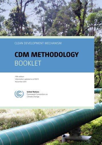 CDM Methodology Booklet - CDM - United Nations Framework ...