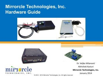 Mirrorcle Technologies, Inc. Hardware Guide