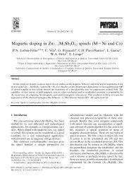 Magnetic doping in Zn7ÀxMxSb2O12 spinels (M ... - Nanotecnologia