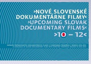 Nové slovenské dokumentárne filmy 2010 - AIC