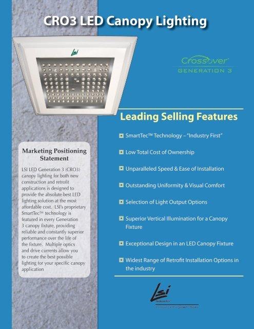 Cro3 Led Canopy Lighting Lsi Industries Inc