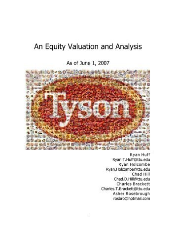 An Equity Valuation and Analysis - Mark Moore