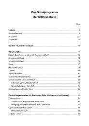 Das Schulprogramm der Diltheyschule - Diltheyschule Wiesbaden