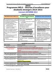 Concours de bourses d'études à la maîtrise et au doctorat
