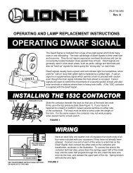 Operating Dwarf Signal - Lionel
